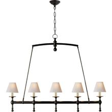 E. F. Chapman Classic 5 Light 45 inch Bronze Linear Pendant Ceiling Light