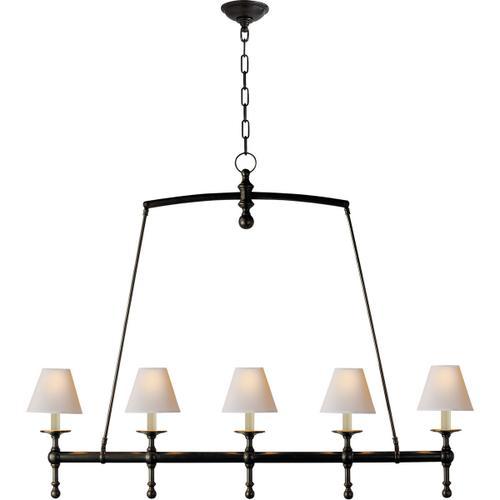 E. F. Chapman Classic 5 Light 45 inch Bronze Linear Pendant Ceiling Light