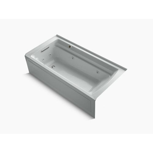 """Ice Grey 72"""" X 36"""" Alcove Whirlpool Bath With Integral Flange, Left-hand Drain and Bask Heated Surface"""