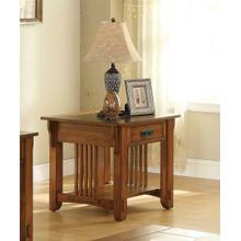 Traditional Oak End Table