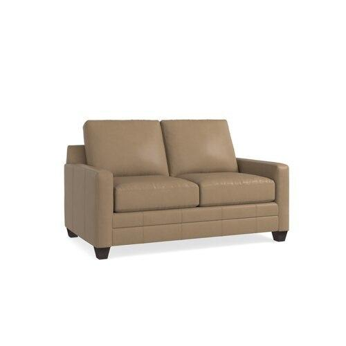 Carolina Leather Thin Track Arm Loveseat