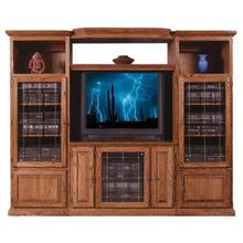 See Details - Forest Designs Traditional Three Piece Wall & TV Stand & Adjustable Shelf - 43w