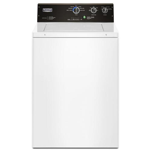 Maytag Commercial - 3.5 cu. ft. Commercial-Grade Residential Agitator Washer White