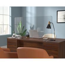 """See Details - Transparent 48"""" Plastic Shield for Desks"""