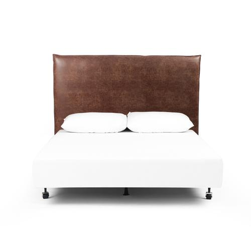 King Size Vintage Tobacco Cover Junia Headboard