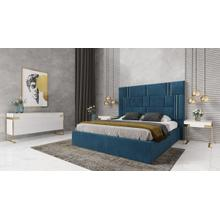View Product - Modrest Adonis - Modern Blue Fabric Bed