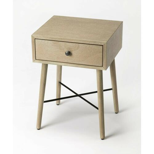 With Mid-Century Modern roots, this classic rectangular End Table is both good-looking and functional. Crafted from bayur wood solids and okoume veneer, it features a fresh contemporary gray finish with a spacious drawer, and is equally usable for use as