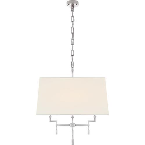 Alexa Hampton Jane 4 Light 24 inch Polished Nickel Hanging Shade Ceiling Light, Medium