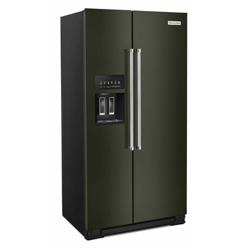 KitchenAid - 22.6 cu ft. Counter-Depth Side-by-Side Refrigerator with Exterior Ice and Water and PrintShield™ finish - Black Stainless Steel with PrintShield™ Finish