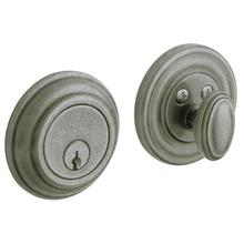 View Product - Distressed Antique Nickel Traditional Deadbolt