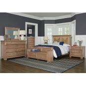 Seagrass Bed with Elder's Bench Footboard