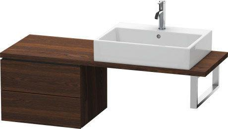Low Cabinet For Console Compact, Brushed Walnut (real Wood Veneer)