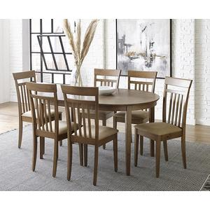 Upholstered Dining Chairs, Set of 2 - Coffee Brown Finish