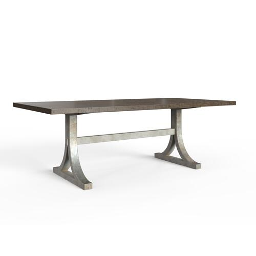 "Hillside 88"" Rectangular Dining Table - Feather"
