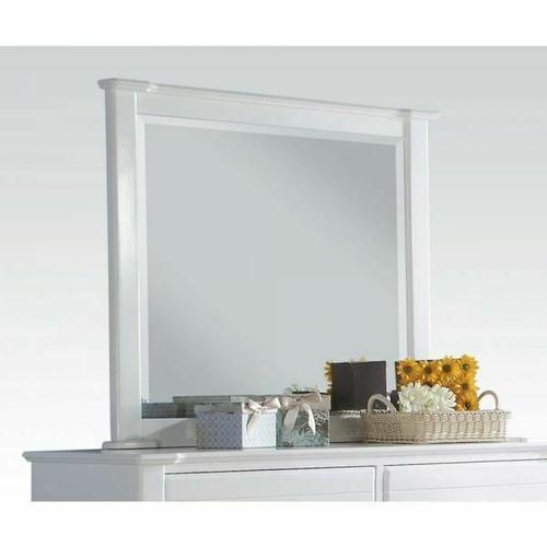ACME Mallowsea Mirror - 30424 - White