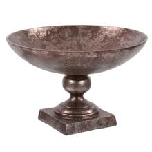View Product - Aluminum Footed Bowl in Antiqued Bronze, Small