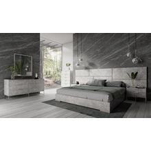 See Details - Nova Domus Marbella - Italian Modern Grey Bed Set