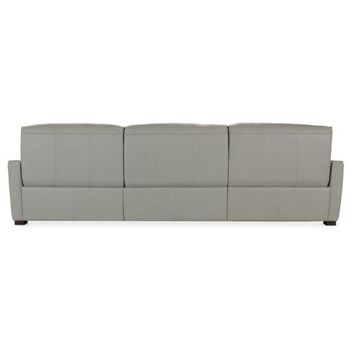 Living Room Reaux Power Motion Sofa w/ LAF Chaise w/2 Power Recline