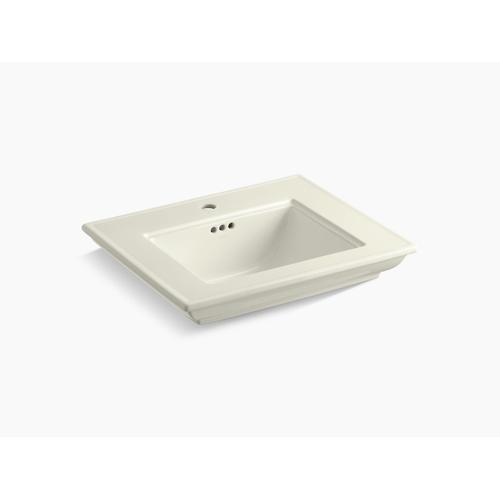 """Biscuit 24"""" Pedestal/console Table Bathroom Sink Basin With Single Faucet Hole"""