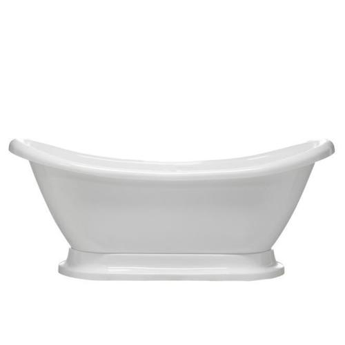 "Montebello 69"" Acrylic Double Slipper Tub - Tap Deck - No Drillings"