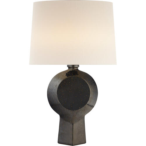 AERIN Nicolae 34 inch 100 watt Boiling Black Table Lamp Portable Light, Large