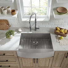 See Details - Pekoe 30x22-inch Stainless Steel Farmhouse Kitchen Sink  American Standard - Stainless Steel
