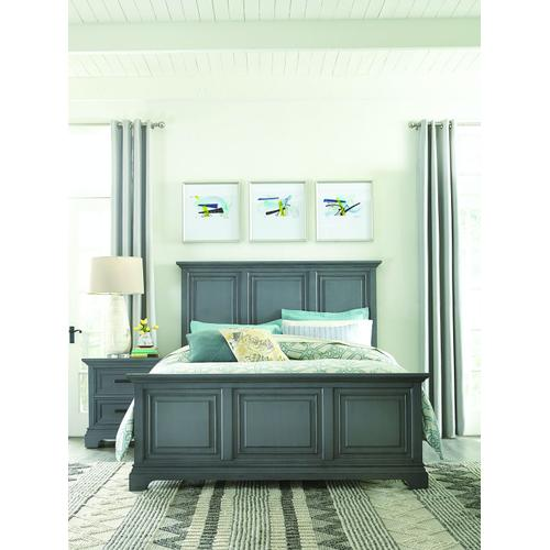 King Bed in Mineral Gray