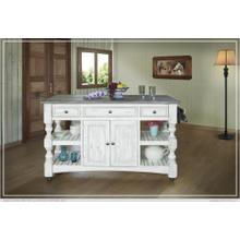 Kitchen Island with 3 Drawer, 2 doors, 4 Shelves & casters