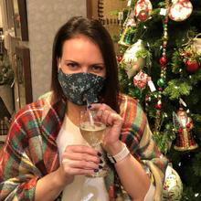 See Details - Happy Hour Reusable Face Mask Snowflakes