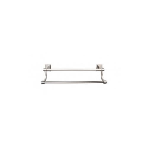 Top Knobs - Stratton Bath Towel Bar 18 Inch Double - Brushed Satin Nickel