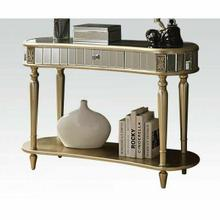 ACME Kaya Console Table - 97239 - Mirrored & Champagne