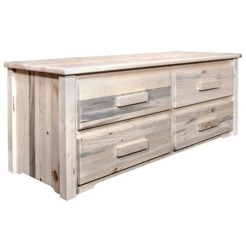 Montana Woodworks - Homestead Collection 4 Drawer Sitting Chest