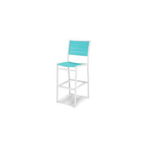 Polywood Furnishings - Eurou2122 Bar Side Chair in Satin White / Aruba