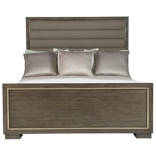 California King Profile Panel Bed in Warm Taupe (378)