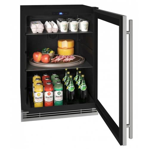 "U-Line - Hre124 24"" Refrigerator With Stainless Frame Finish (115v/60 Hz Volts /60 Hz Hz)"