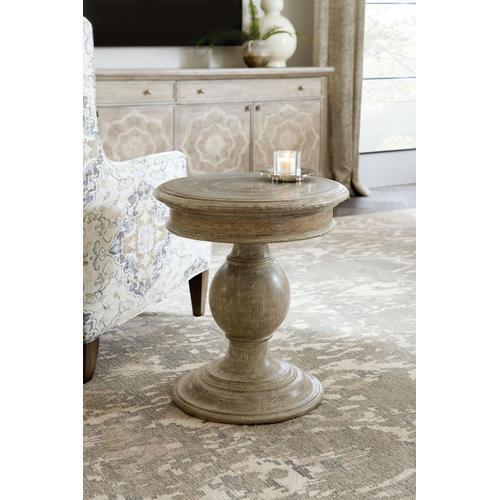 Living Room Dahlia Round Pedestal End Table