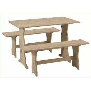 Whitewood Industries - T-4328 / BE-4312 Trestle Table / Trestle Bench