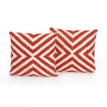 "20x20"" Size Avari Coral X Pillow, Set of 2"