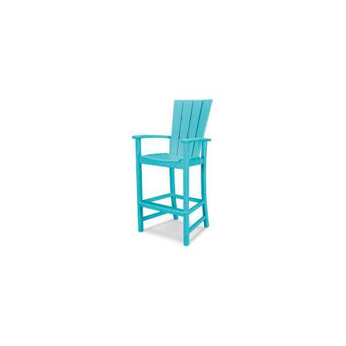 Polywood Furnishings - Quattro Adirondack Bar Chair in Aruba