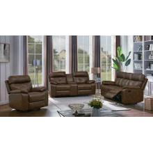 Zimmerman Brown Faux Leather Three-piece Living Room Set