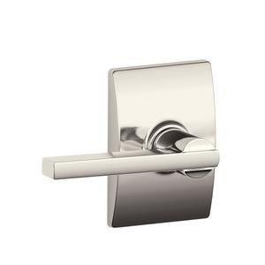 Latitude lever with Century trim Hall & Closet lock - Polished Nickel Product Image