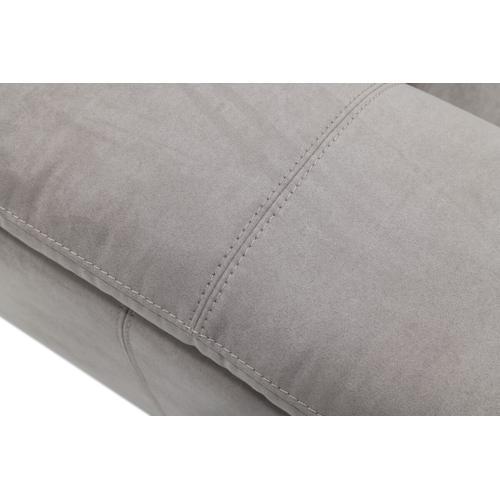 VIG Furniture - Divani Casa Maine - Modern Light Grey Fabric Sofa w/ Electric Recliners