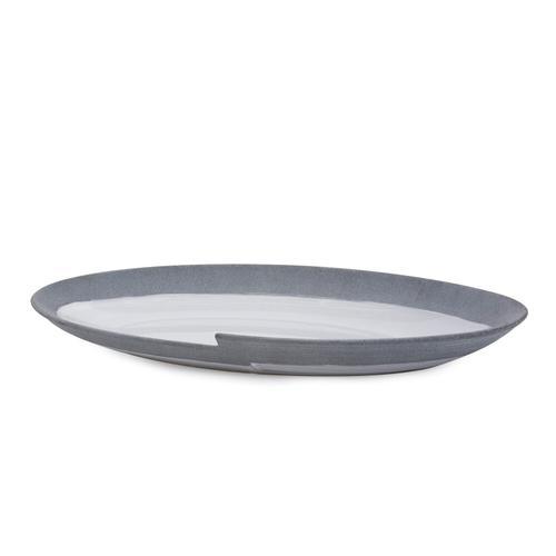 Howard Elliott - Rolled Two Tone Gray Plate