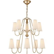 AERIN Montreuil 10 Light 35 inch Gild Chandelier Ceiling Light