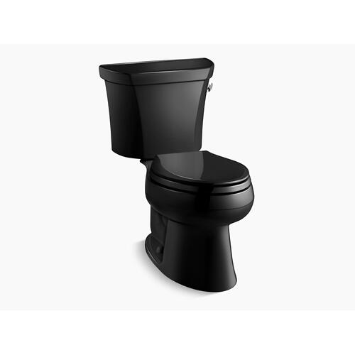 Black Black Two-piece Elongated 1.0 Gpf Toilet With Right-hand Trip Lever, Less Seat