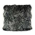 Lamb Fur Pillow Large Black Snow Product Image