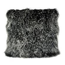 See Details - Lamb Fur Pillow Large Black Snow