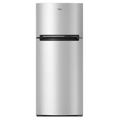 Whirlpool - 28-inch Wide Refrigerator Compatible With The EZ Connect Icemaker Kit - 18 Cu. Ft. Stainless Steel Finish