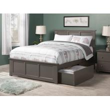 Madison Full Bed with Matching Foot Board with 2 Urban Bed Drawers in Atlantic Grey