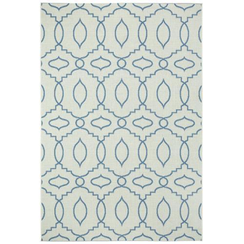 Finesse-Moor Capri Blue Machine Woven Rugs